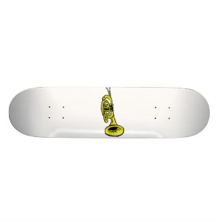 Trumpet Graphic Squiggly Skateboard