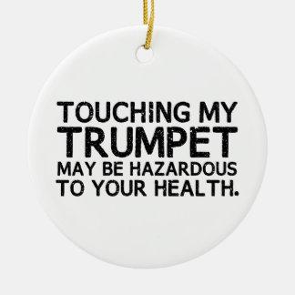 Trumpet Hazard Ceramic Ornament