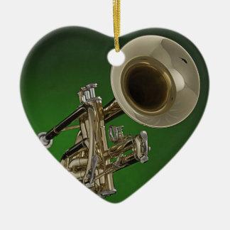 Trumpet Heart Ornament