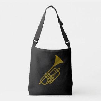Trumpet illustration crossbody bag