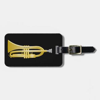 Trumpet Just Add Text Black Bag Tags