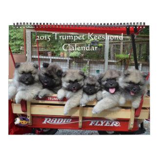 Trumpet Keeshond Calendar