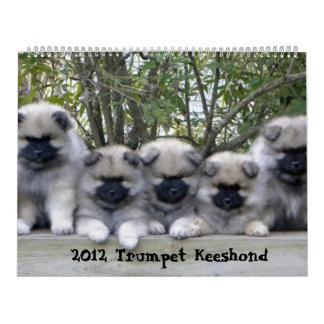 Trumpet Keeshond Calendar 2012