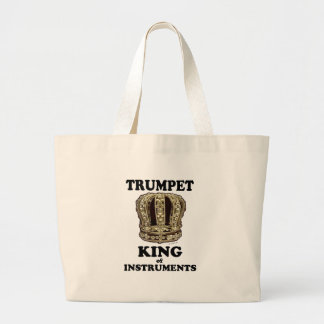 Trumpet King of Instruments Tote Bags