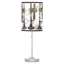 Trumpet Lamp Colorful Trumpets Music Art Lamp
