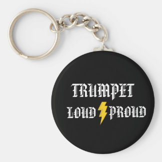 Trumpet Loud and Proud Keychain