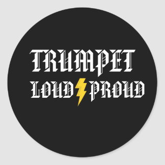 Trumpet Loud and Proud Sticker