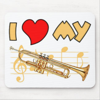 Trumpet Love Mouse Pad