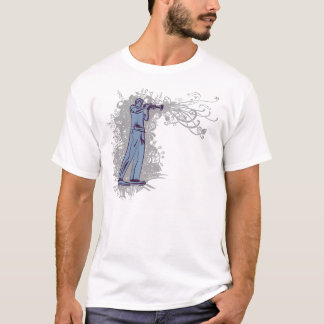 Trumpet Man on Dark T-Shirt
