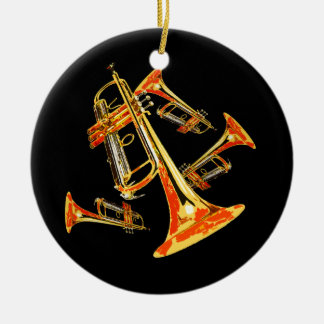 Trumpet Mania Band Photo Ceramic Ornament