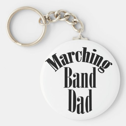 "Trumpet ""Marching Band Dad"" Keychain Key chain"