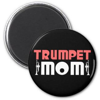 Trumpet Mom 2 Inch Round Magnet