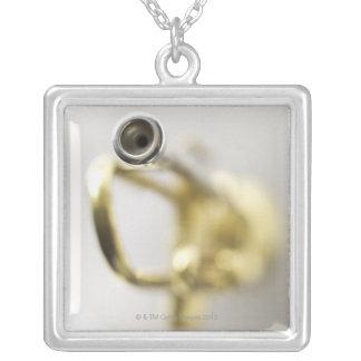 Trumpet Mouth Piece Square Pendant Necklace