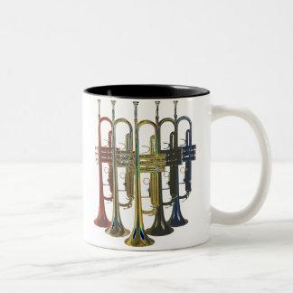 Trumpet Two-Tone Coffee Mug