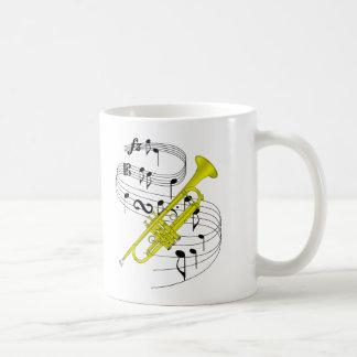 Trumpet Classic White Coffee Mug