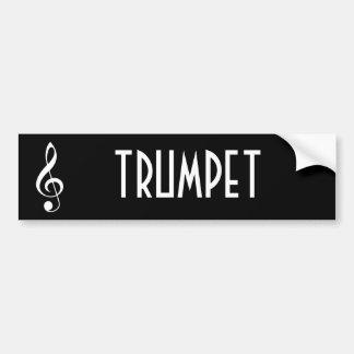 Trumpet Music Bumper Sticker Gift
