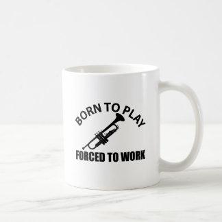 trumpet music designs coffee mug