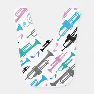 Trumpet Music Instrument Baby Bib
