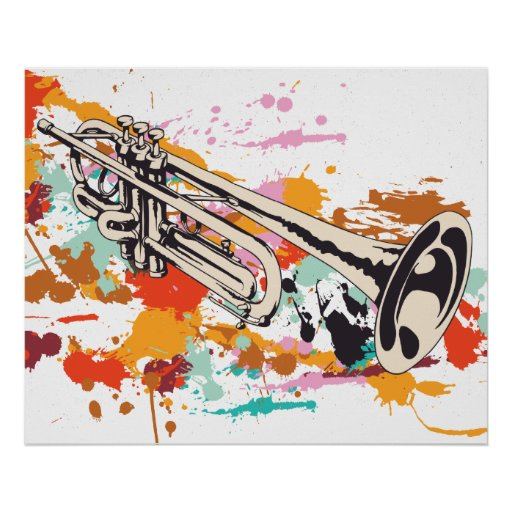 Trumpet music instrument custom print poster | Zazzle: www.zazzle.com/trumpet_music_instrument_custom_print_poster...