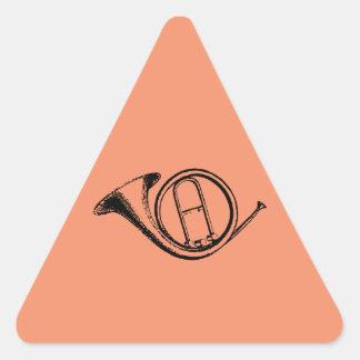 Trumpet & Music Love Triangle Sticker