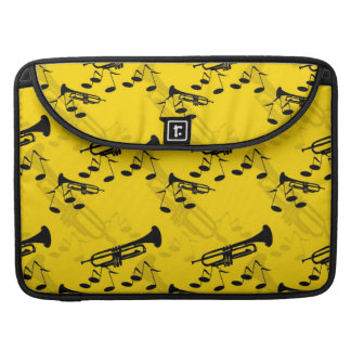 Trumpet Music Notes MacBook Pro Sleeves
