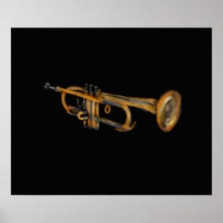 Trumpet Musician Artwork Print
