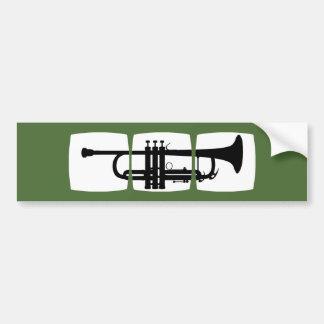 Trumpet Musician T-shirt for trumpeter Bumper Sticker