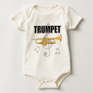 Trumpet Notes Baby Baby Bodysuit