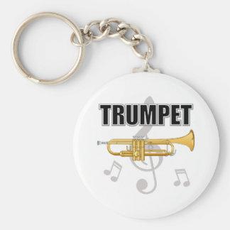 Trumpet Notes Keychain
