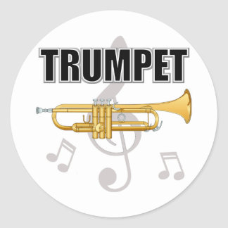 Trumpet Notes Stickers