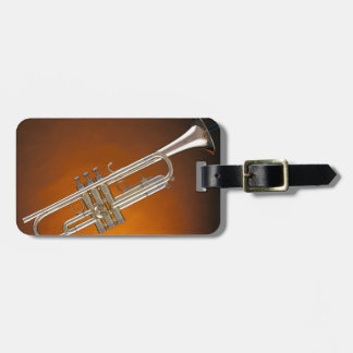 Trumpet on Gold Bag Tag