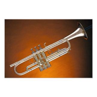 Trumpet on Gold Photo Art