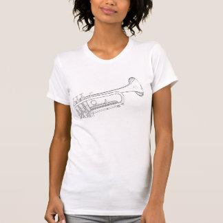 Trumpet or Cornet Drawing Shirt