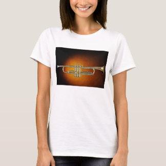 Trumpet or Cornet Gold Background Shirt