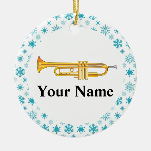 Trumpet Personalized Music Band Christmas Christmas Ornaments