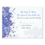 Trumpet & Piano Musical Bar Bat Mitzvah Reply 4.25x5.5 Paper Invitation Card