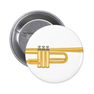 Trumpet Pinback Button