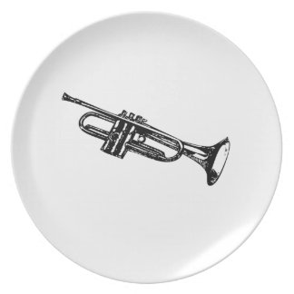 Trumpet Party Plates