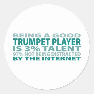 Trumpet Player 3% Talent Round Sticker