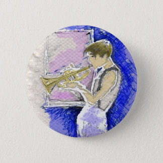 Trumpet Player Button