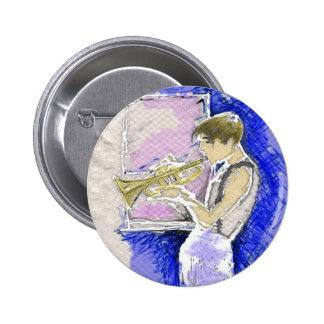 Trumpet Player Button