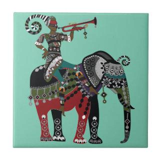 Trumpet Player Ceramic Tile