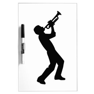 Trumpet player Dry-Erase whiteboards
