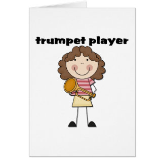 Trumpet Player - Female Tshirts and Gifts Card