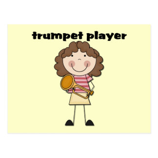 Trumpet Player - Female Tshirts and Gifts Postcard