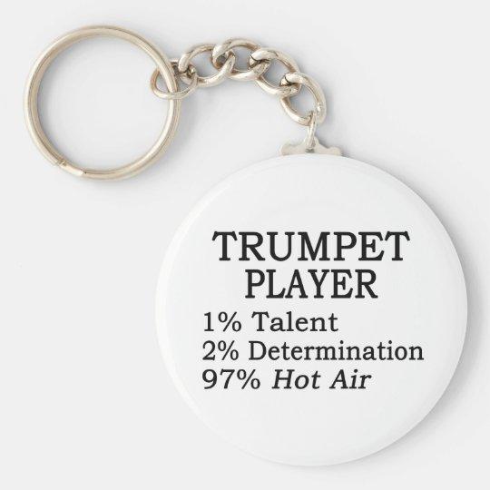 Trumpet Player Hot Air Keychain