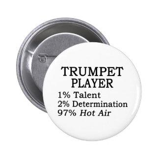 Trumpet Player Hot Air Pinback Button