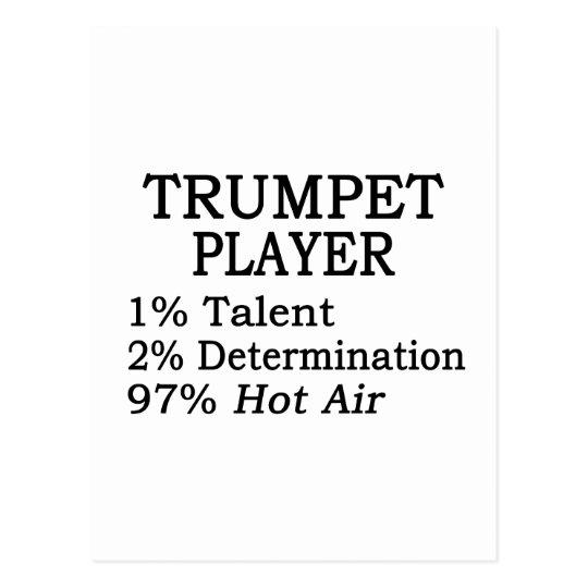 Trumpet Player Hot Air Postcard