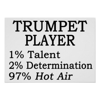 Trumpet Player Hot Air Poster