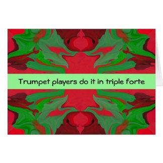 trumpet player humor card